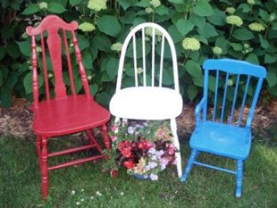 Nothing says patriotic like red, white and blue chairs