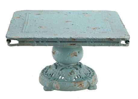 Our Aqua Shabby Chic Cake Stand is great for entertaining! This is perfect to display sweets or as a vintage inspired centerpiece!