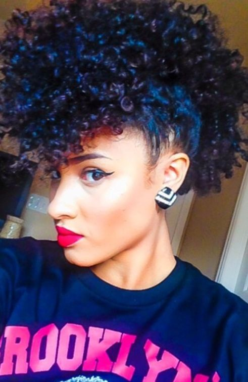 Remarkable Curly Faux Hawk Curly Hair And Hair And Beauty On Pinterest Short Hairstyles For Black Women Fulllsitofus