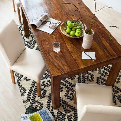 dining table by ars manufacti Esstisch Andaman Sheesham massiv - Honigfarben dunkel - 140 x 90 cm