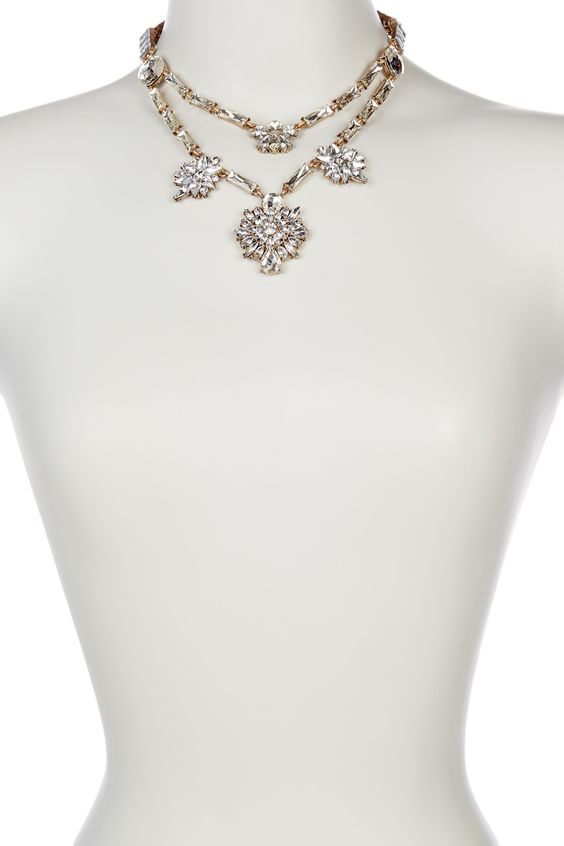 t+j Designs | Double Layer Crystal Deco Necklace | HauteLook