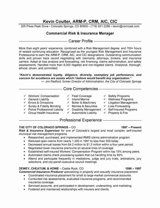 Insurance Agent Resume Examples Awesome Insurance Manager Resume Example Insurance Agent Resume Examples Awesom
