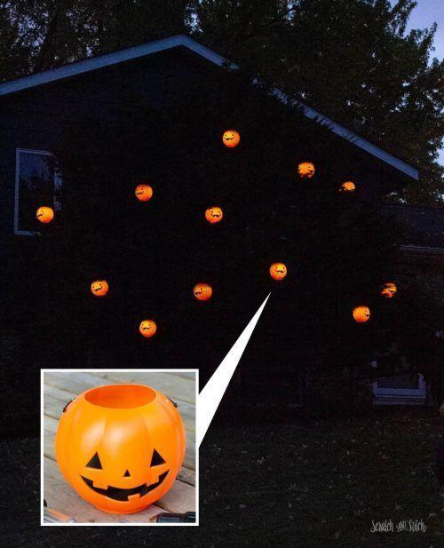 2020 Halloween Ideas Plastic Dollar Tree Halloween Crafts and DIY Halloween Home Decor in 2020