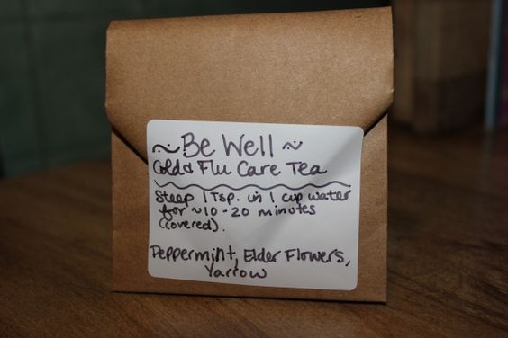 Be Well Tea - Peppermint, Elder Flower, Yarrow