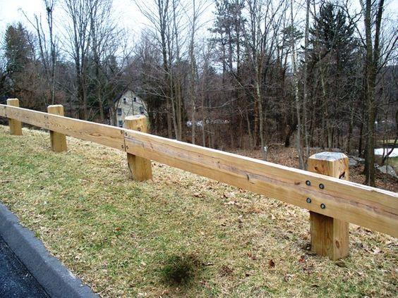Wood guard rail commercial fence pinterest woods