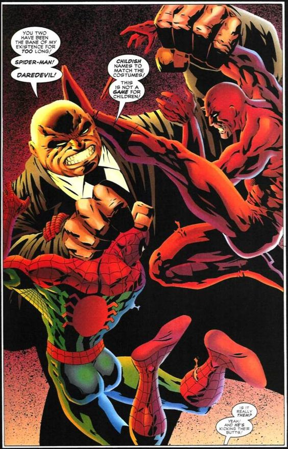Daredevil Vs Kingpin Daredevil and Spiderma...