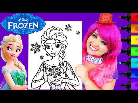 Coloring Frozen Elsa Snow Queen Giant Coloring Page Prismacolor Markers Kimmi The Clown Youtube Crayola Coloring Pages Elsa Frozen Snow Queen