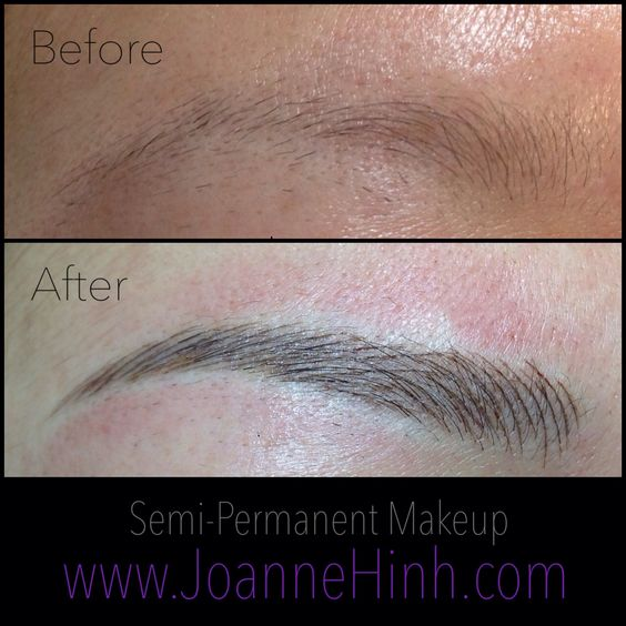 Eyebrow embroidery brows and permanent makeup on pinterest for Cosmetic eyebrow tattoo