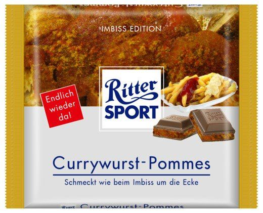 ritter sport fake schokolade currywurst pommes lustige. Black Bedroom Furniture Sets. Home Design Ideas