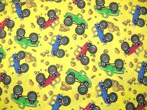 Sewing crafts monster trucks and jeeps on pinterest for Children s material sewing