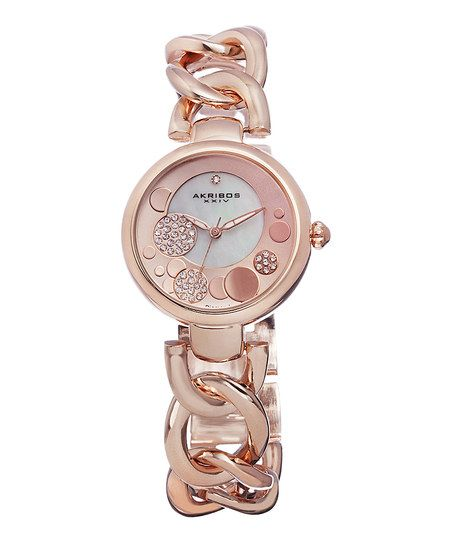 Rose Gold Sparkle Dot Watch