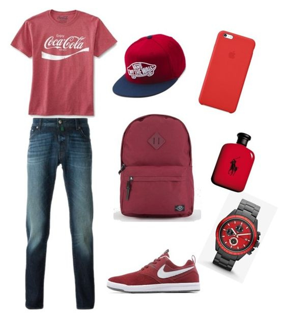 """patrocinando cocacola"" by lore-happy ❤ liked on Polyvore featuring Jacob Cohёn, NIKE, Express, Parkland, Vans, Apple, Ralph Lauren, men's fashion and menswear"