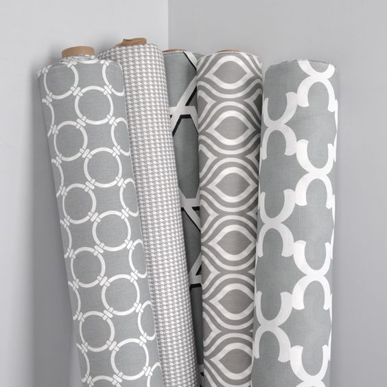 Gray and white fabric by Premier Prints from OnlineFabricStore.net