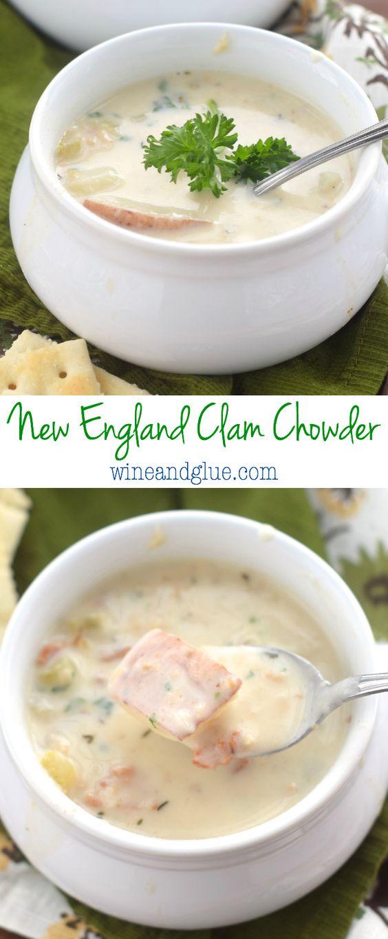 Clam Chowder   Recipe   Clam Chowder, Chowders and New England