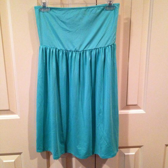 Monogrammed Swimsuit Coverup Solid Aqua  S/M by TheSouthernPeach