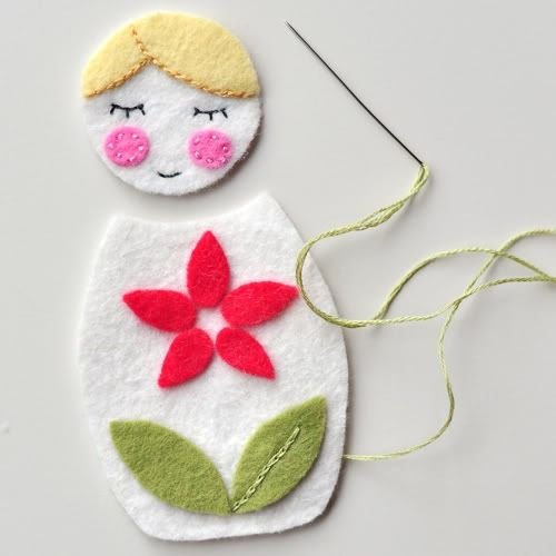 Matryoshka/babushka pattern for christmas ornament