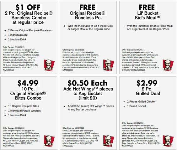 Kfc bucket coupons