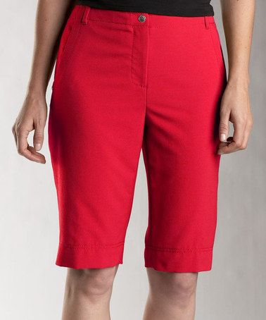 Red Bermuda Shorts Women'S - The Else