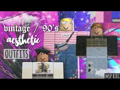 Aesthetic Roblox Outfits Vintage 90 S Themed Youtube Roblox Aesthetic Outfits 90 Themed Vintageoutfits In 2020 Vintage Outfits Retro Summer Retro Outfits