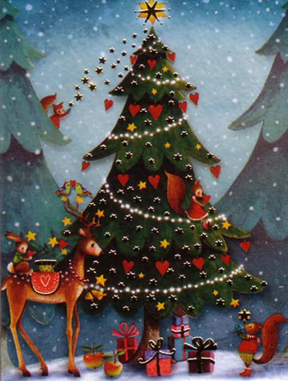 8 Pack of small christamassy folded Cards by Mila Marquis * Minimum order value 10 Euro *