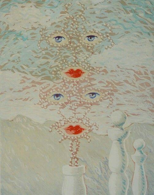 René Magritte(1898-1967) -Visages et Quilles