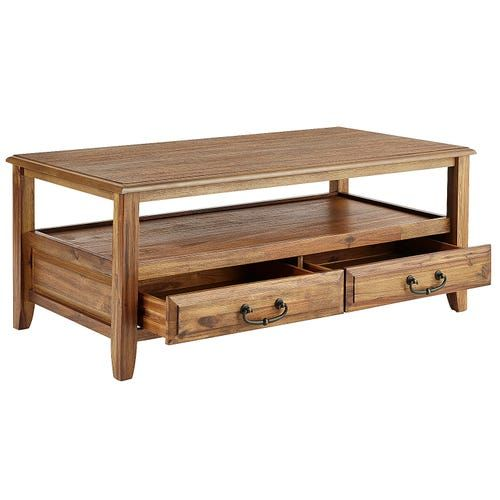Anywhere Java Coffee Table With Pull Handles Coffee Table Wood Coffee Table Round Wood Coffee Table