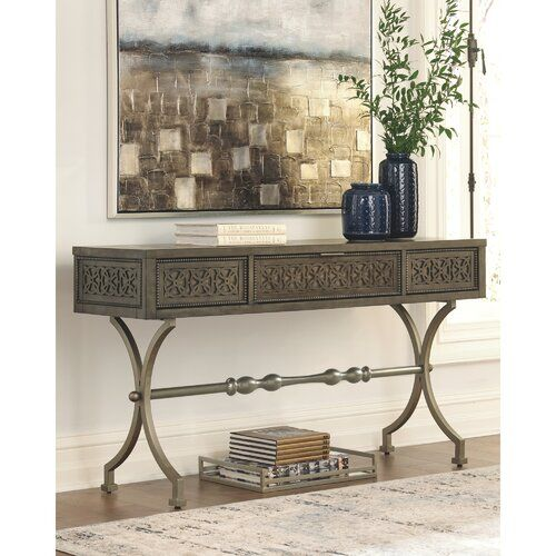 Tignall Console Table Entryway Console Table Metal Console