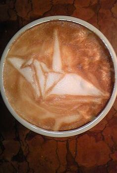 Crane Latte Art