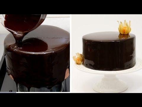 DIY Mirror Glaze receta de la torta de mármol que adorna