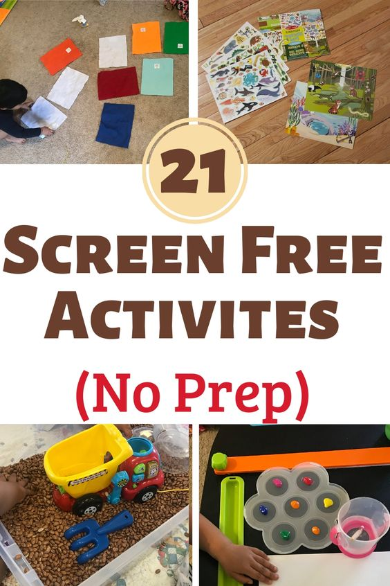 Screen free activities for toddlers. Kids Activites.  Low prep needed. Great for summer vacations. Try them, easy and fun toddler activites. #toddler #kidsactivites #activitesforkids