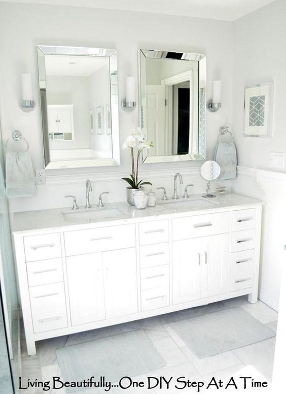 Master Bath Tile Mirror And Vanities On Pinterest