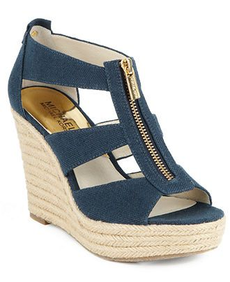 MICHAEL Michael Kors Shoes, Damita Platform Wedge Sandals - Espadrilles \u0026amp; Wedges - Shoes -