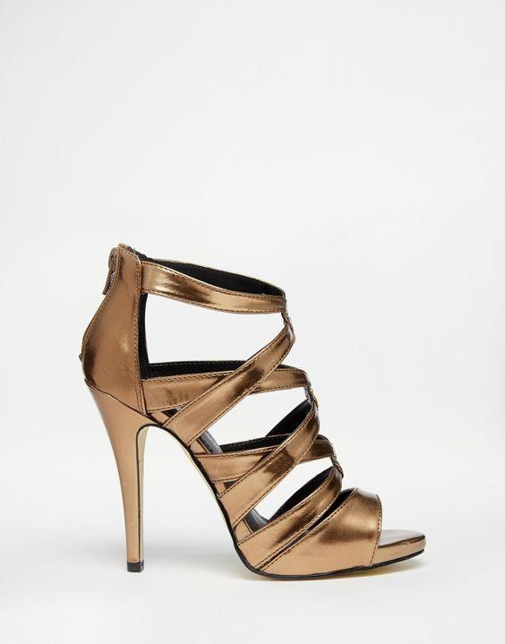 Image 2 - New Look - Sandales à talons et brides métallisées