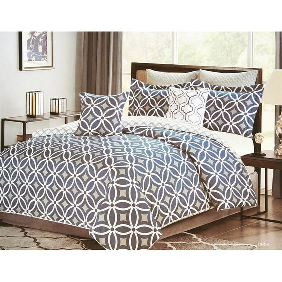 Marvelous Geo Print Bedding #6: Geo Print 7-Piece Queen Bedding Set