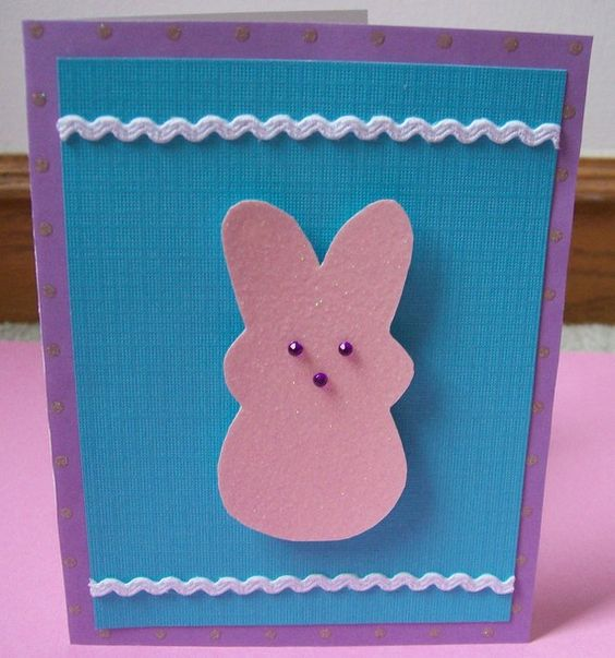 Happy Easter Peep Bunny Greeting Card by enchantingdreams on Etsy, $3.00