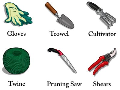 Gardens pictures of and the o 39 jays on pinterest for Gardening tools name and image