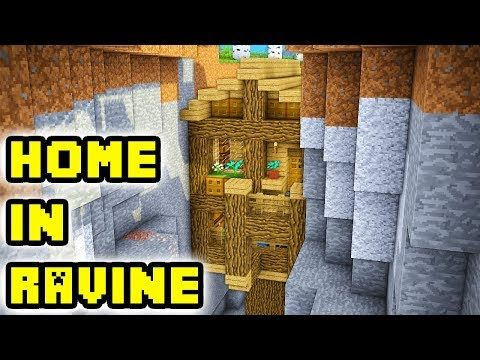 Minecraft Simple Cliff Cave House Build Tutorial Youtube