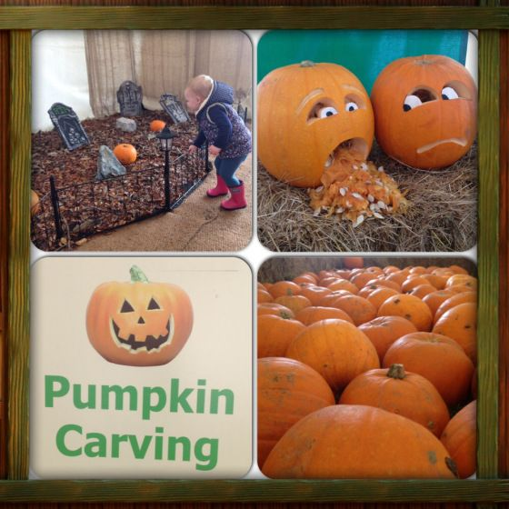 Pumpkin carving at Manydown Farm, Hampshire