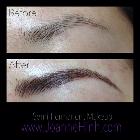 Hairstroke eyebrow embroidery by joanne hinh brow for Cosmetic eyebrow tattoo