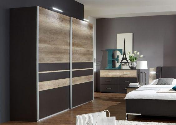 Komplett-Schlafzimmer  - schlafzimmerschrank erle massiv