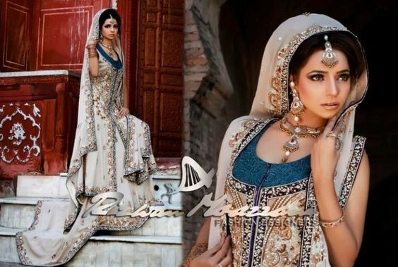 Absolutely Gorgeous Rizwan Moazzam in Beige, Gold, and Navy