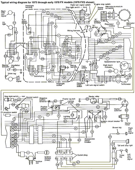 wiring diagram for harley davidson fxe this is really. Black Bedroom Furniture Sets. Home Design Ideas
