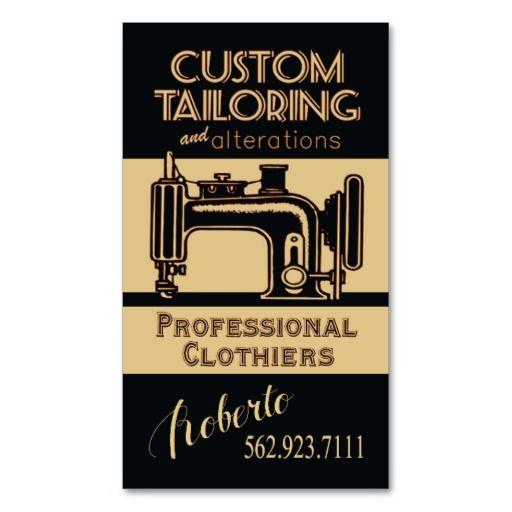 Dressmaker Seamstress Chic White Gold Polka Dots Business Card