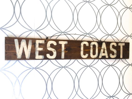 West Coast Sign / California Sign / Weathered Sign / Funky Sign / Wall Art by HollyWood & Twine on Etsy #westcoast