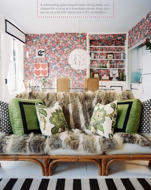 cushions + fur