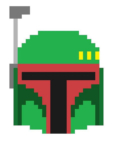 Boba Fett Pixel Art Grid My Home And Yours