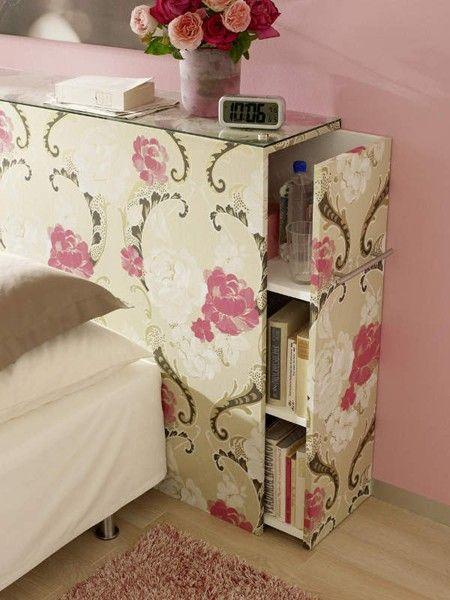 t te de lit en carton meubles en carton pinterest cr atif rangement cach et t tes de lit. Black Bedroom Furniture Sets. Home Design Ideas
