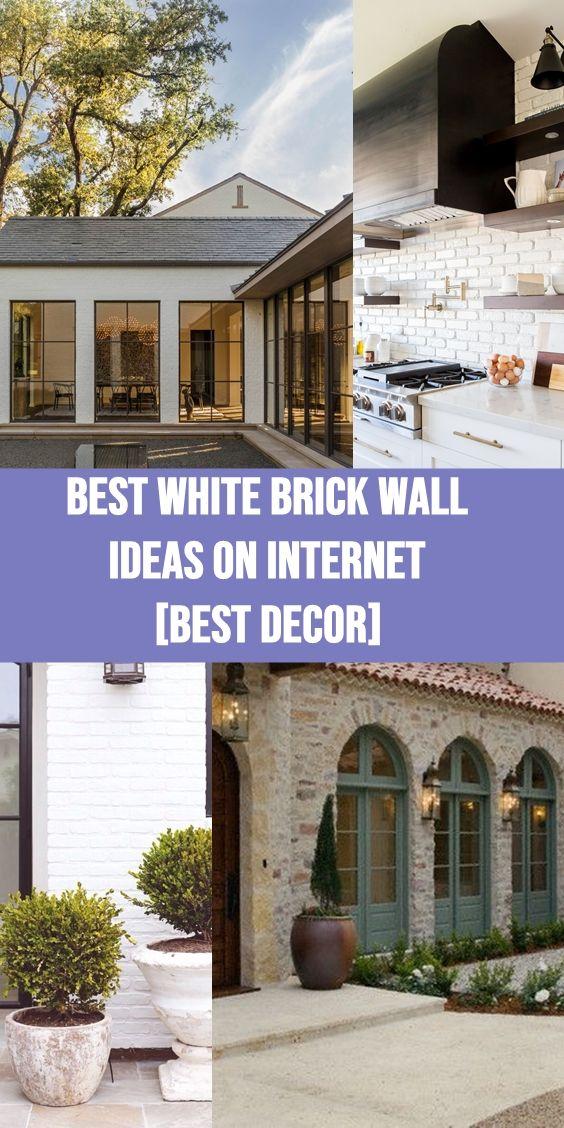 Best White Brick Wall Ideas On Internet Best Decor Tags White Brick Wall White Brick Exterior Whi White Brick Fireplace White Brick Walls Brick Farmhouse