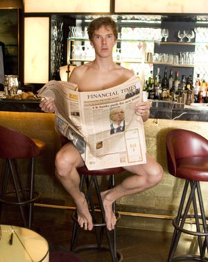 Benedict Cumberbatch Naked With Newspaper