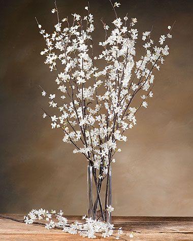 Cherry Blossom Silk Flower Stem Spring Cherry Blossoms